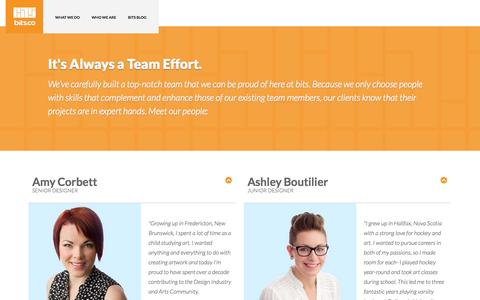 Screenshot of About Page bits.co - Who We Are | bits.co - captured Oct. 4, 2014