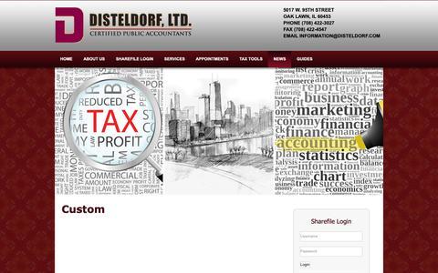 Screenshot of Press Page disteldorf.com - Disteldorf Ltd.: A professional tax and accounting firm in Oak Lawn, Illinois: Custom - captured Oct. 9, 2018