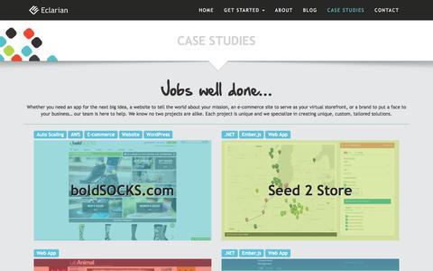 Screenshot of Case Studies Page eclarian.com - Case Studies | Eclarian - captured July 11, 2016