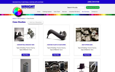 Screenshot of Case Studies Page wrightcoating.com - Case Studies | Wright Coating Technologies - captured Oct. 22, 2017