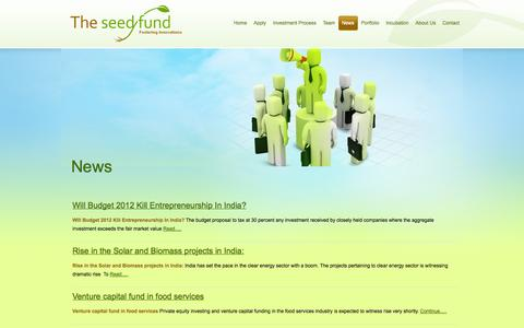 Screenshot of Press Page theseedfund.vc - News | The Seed Fund - captured Oct. 9, 2014