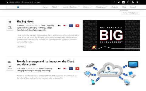 Screenshot of Blog xcluesiv.com - Xcluesiv Blog   Xcluesiv Cloud Technology Blog - captured Feb. 4, 2016