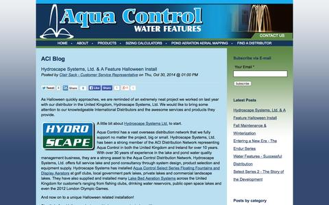 Screenshot of Blog aquacontrol.com - ACI Blog - captured Nov. 2, 2014