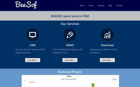 Screenshot of Menu Page beasof.com - Beasof - captured Sept. 30, 2014