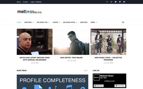Screenshot of Blog melboss.com - Melboss Blog | Music Tips - Updates - Interviews - captured July 13, 2018