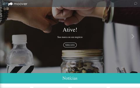 Screenshot of Home Page moover.com.br - Moover - captured July 18, 2018
