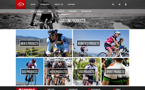 Screenshot of Products Page primalwear.com - Primal Custom Cycling Apparel | Products - Est. 1992 Colorado - captured Oct. 28, 2014