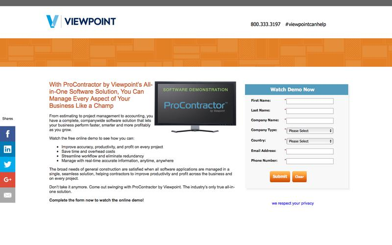 Viewpoint Construction Software - ProContractor