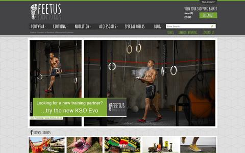 Screenshot of Home Page feetus.co.uk - Feetus: Leaders in Barefoot & Minimalist Footwear - captured Sept. 30, 2014