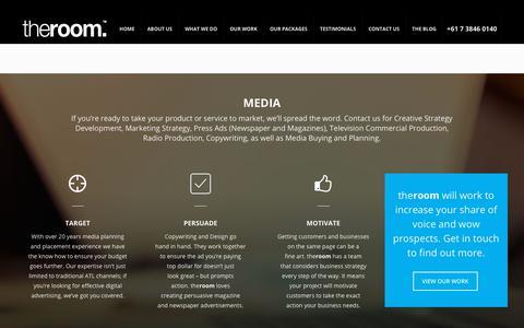 Screenshot of Press Page theroom.com.au - Media - The Room - captured Nov. 17, 2017