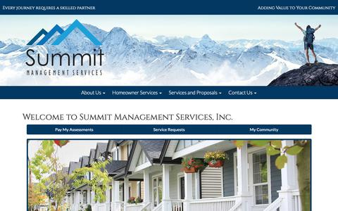 Screenshot of About Page summitmanage.com - Summit - Homeowners associations management - captured Oct. 18, 2018