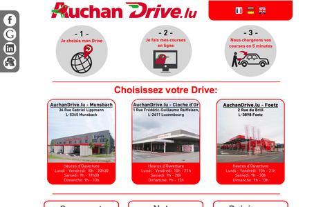 Screenshot of Home Page auchandrive.lu - Auchan Drive - captured Sept. 25, 2014
