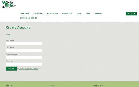 Screenshot of Signup Page winninggolftv.com - Create Account | Winning Golf TV - captured Oct. 26, 2014
