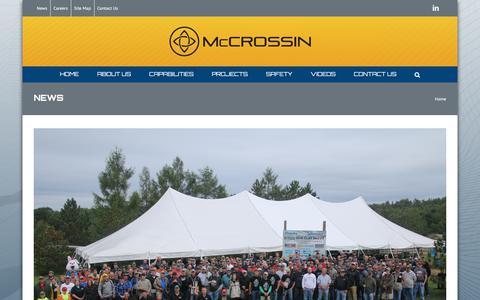 Screenshot of Press Page mccrossin.com - News - McCrossin Corporate Site - captured Oct. 18, 2017