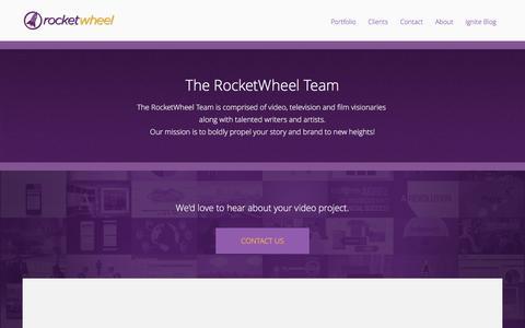 Screenshot of About Page rocketwheel.com - Expert Video Content Marketing | RocketWheel Videos - captured Dec. 14, 2015