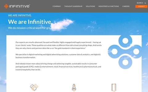 Screenshot of About Page infinitive.com - We are Infinitive. - Infinitive - captured Aug. 14, 2018
