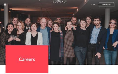 Screenshot of Jobs Page sopexa.com - Careers - Sopexa - captured Sept. 21, 2018