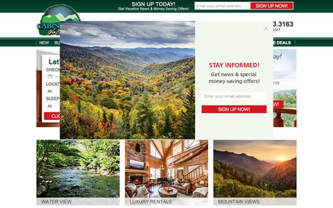 Screenshot of Home Page cabinfevervacations.com - Cabin Fever - Cabin Fever - captured July 15, 2018