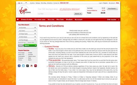 Screenshot of Terms Page virginwines.co.uk - Terms and Conditions   Help   Virgin Wines - captured Sept. 22, 2014
