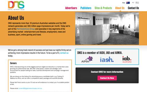 Screenshot of About Page digitalnetworksales.com.au - About Us - Digital Network Sales - captured Aug. 7, 2018