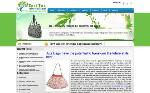 Screenshot of Blog zesttex.com - Jute and Cotton Bags Related News and Information - captured Oct. 27, 2014