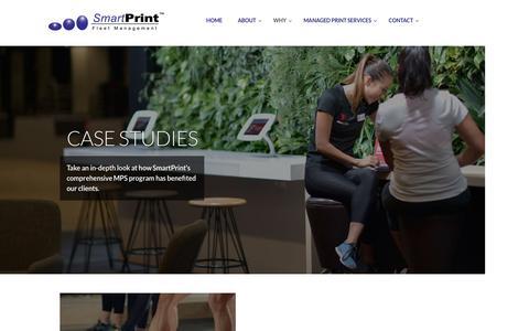 Screenshot of Case Studies Page smartprint.net.au - SmartPrint Case Studies - SmartPrint Managed Print Services MPS - captured Nov. 19, 2016