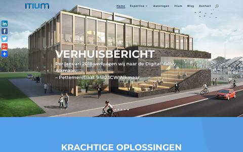 Screenshot of Home Page itium.nl - Home - ITIUM - captured Feb. 17, 2018