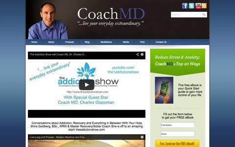 Screenshot of Press Page charlesglassmanmd.com - Coach MD Interviews - captured Oct. 2, 2014
