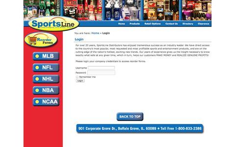 Screenshot of Login Page sportslined.com - Sportslined - captured Oct. 6, 2014