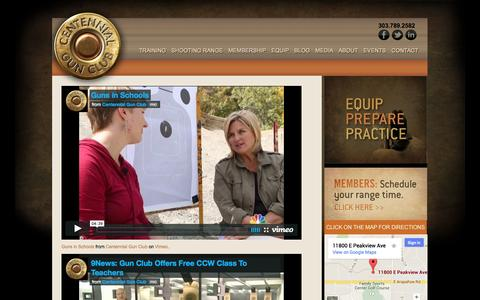 Screenshot of Press Page centennialgunclub.com - Centennial Gun Club :: Media - captured Sept. 29, 2014