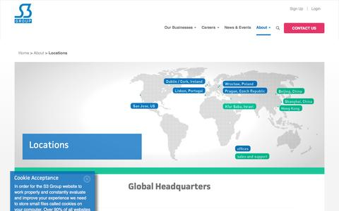 Screenshot of Locations Page s3group.com - Our Global Locations - captured Dec. 4, 2015