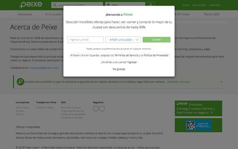 Screenshot of About Page groupon.com.ar - Groupon | Peixe - captured Jan. 1, 2020