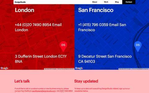 Screenshot of Contact Page wearedesignstudio.com - Contact | Branding and Digital Creative  Agency | DesignStudio - captured Feb. 9, 2016