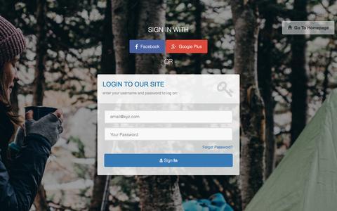 Screenshot of Login Page fitrangi.com - Login to fitrangi.com - captured Jan. 8, 2016