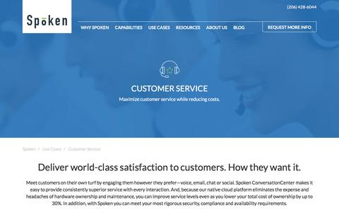 Screenshot of Support Page spoken.com - Customer Service in the Cloud | Spoken - captured May 20, 2017