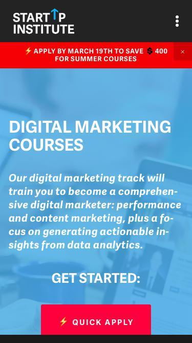 Digital Marketing Courses | Startup Institute