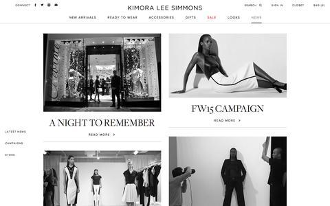 Screenshot of Press Page kls.com - Kimora Lee Simmons Blog - captured Feb. 12, 2016