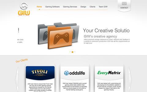 Screenshot of Home Page gamingitwork.com - Gaming IT Work - captured Sept. 30, 2014