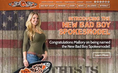Screenshot of Home Page badboymowers.com - Commercial & Residential Zero Turn Mowers - Bad Boy Mowers - captured Sept. 19, 2015