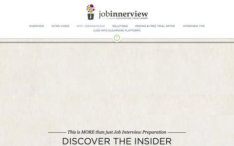 Screenshot of Home Page jobinnerview.com - Job Interviewing Techniques, Interviewing Skills Training Videos, elearning   JobInnerview - captured Oct. 6, 2014