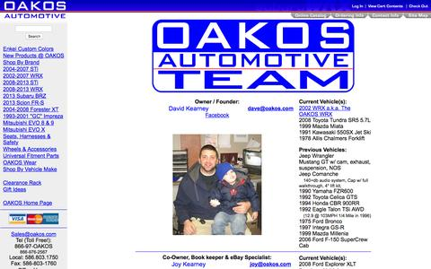 Screenshot of Team Page oakos.com - The OAKOS Automotive Team - captured Feb. 8, 2016
