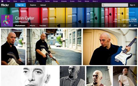 Screenshot of Flickr Page flickr.com - Flickr: Calin Cyfer's Photostream - captured Oct. 23, 2014