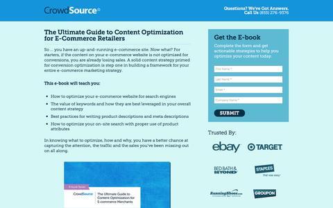 Screenshot of Landing Page crowdsource.com - E-commerce Content Optimization [E-book] - captured Aug. 19, 2016