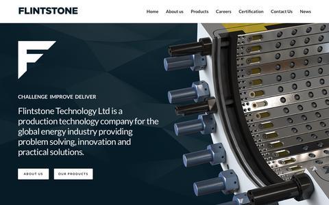 Screenshot of Home Page flint-tech.com - Home   Flintstone Technology Ltd - captured Feb. 10, 2016