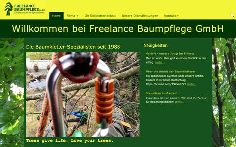 Screenshot of Home Page freelance-baumpflege.de - Willkommen bei Freelance Baumpflege GmbH - captured Oct. 30, 2018