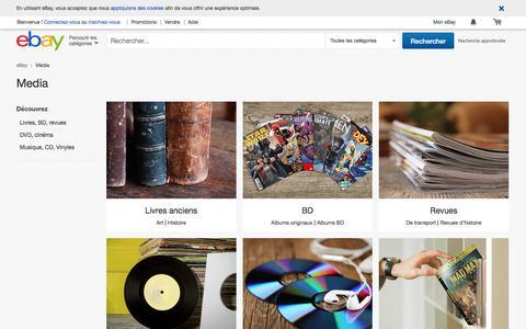 Screenshot of Press Page ebay.fr - Média : Littérature, BD, Revues, Cinéma et Musique | eBay - captured June 24, 2017