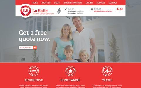 Screenshot of Home Page lasalleinsurance.com - Home - La Salle Insurance - captured June 19, 2015