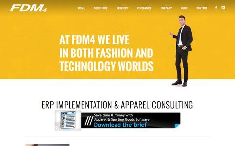 Screenshot of Services Page fdm4.com - FDM4 | Apparel Consulting Services | Apparel ERP Consulting - captured Oct. 1, 2014