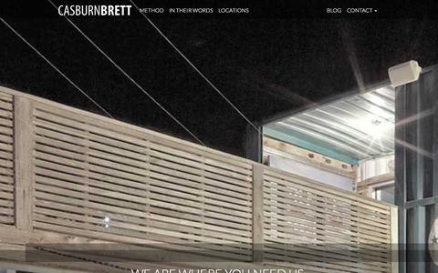 Screenshot of Locations Page casburnbrett.com - Locations | Casburn Brett Architecture - captured Jan. 26, 2016