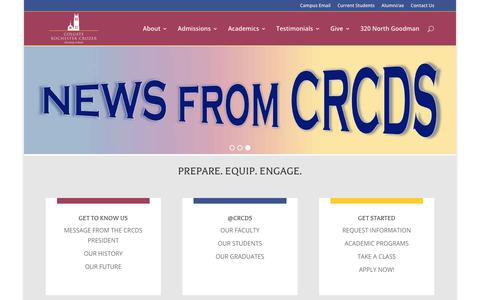 Screenshot of Home Page crcds.edu - Welcome to CRCDS - Colgate Rochester Crozer Divinity School - captured Jan. 10, 2020